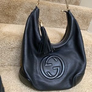 Authentic Gucci Leather black Bag
